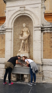 Drinking water at the Vatican