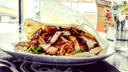 Gyro in Cypriot pita