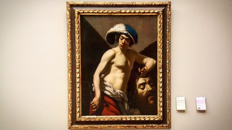 David tenant la tete de Goliath, Aubin Vouet