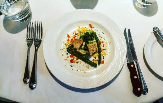 Asparagus and devilled egg mayonnaise